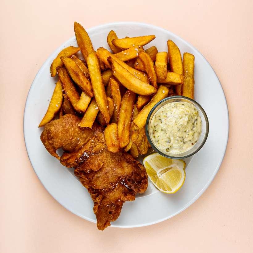 Fish n' chips med tatarsauce